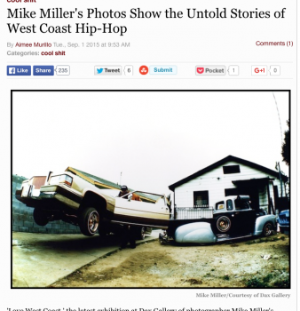 cool shit Mike Miller's Photos Show the Untold Stories of West Coast Hip-Hop